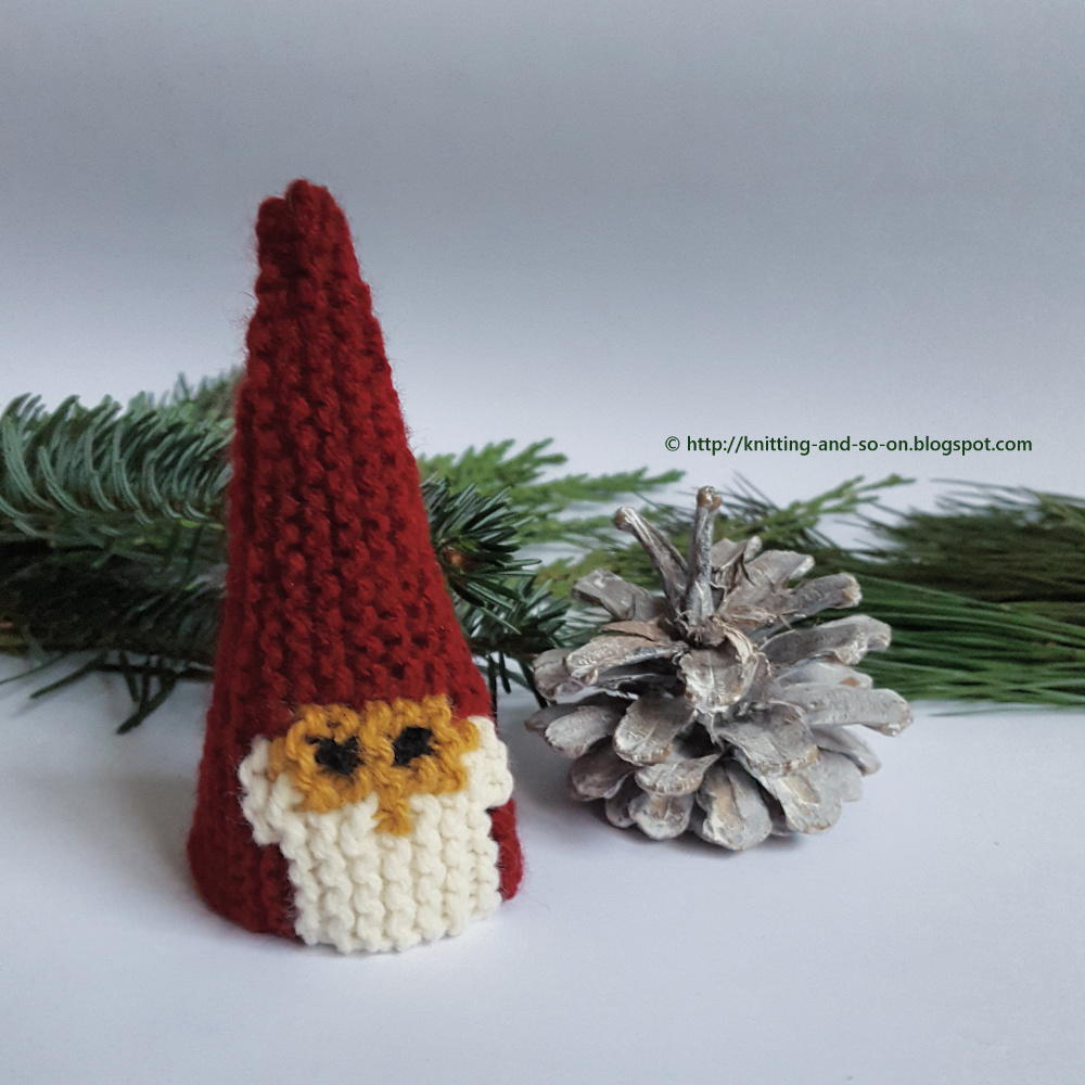 Garter Stitch Christmas Gnome Allfreeknitting Com