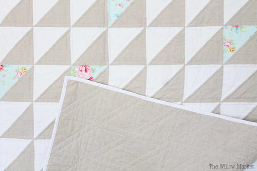 A Farmhouse Inspired Neutral Quilt