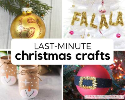 last minute christmas crafts - Handmade Christmas Ornament Ideas