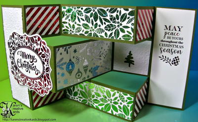 Easy and Elegant Foiled Tri Shutter Christmas Card