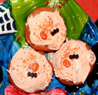 halloween pumpkin cake mix cookies