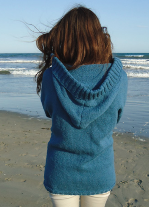 Stockinette Stitch Hooded Cardigan