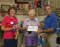 Mary Jarrell - Still Hooking at 100
