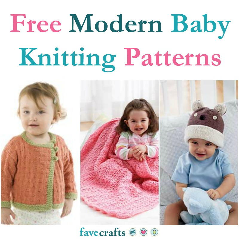 17 Free Modern Baby Knitting Patterns | FaveCrafts.com