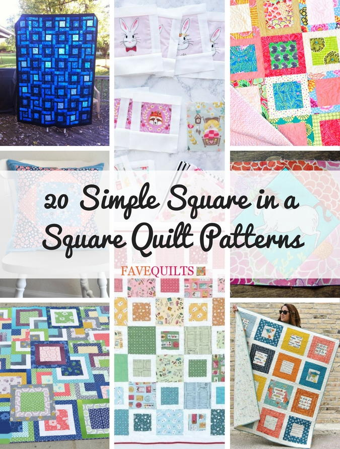 20 Simple Square in a Square Quilt Patterns | FaveQuilts.com : square quilt - Adamdwight.com