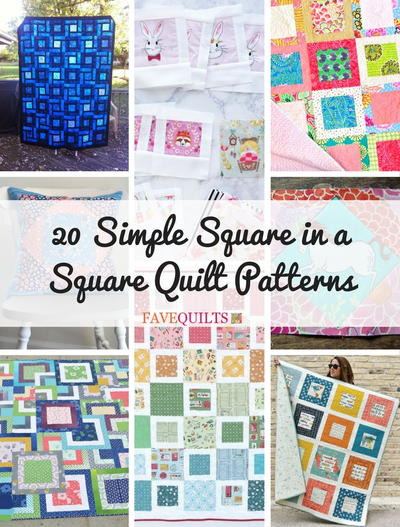 40 Simple Square In A Square Quilt Patterns FaveQuilts Magnificent Simple Square Quilt Patterns