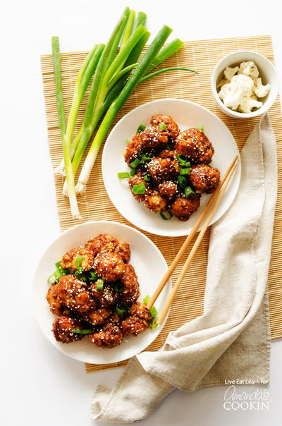 Chinese Takeout Sticky Garlic Cauliflower