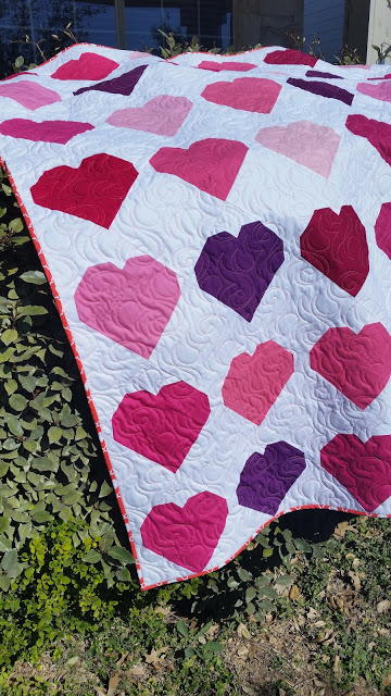 Love Charm Throw Quilt