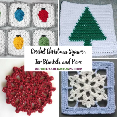 20 Crochet Christmas Squares for Blankets and More