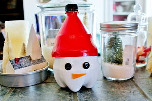 Snowman Candy Container