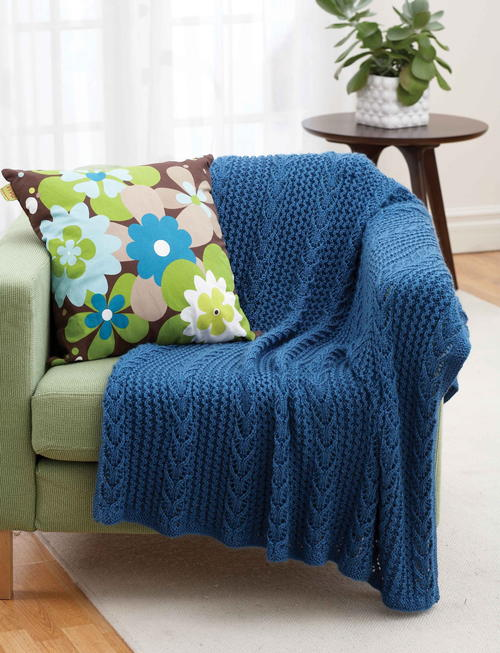 Blue Tide Lacy Throw
