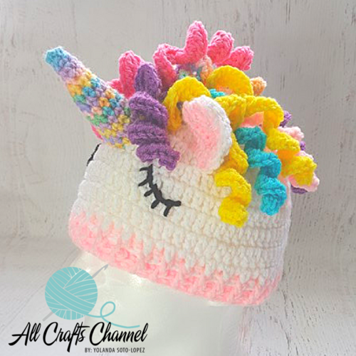Unicorn hat for Diy crafts youtube channels
