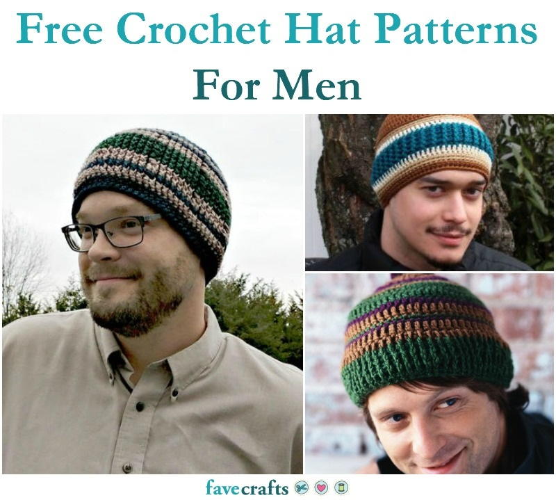 18 Free Crochet Hat Patterns For Men | FaveCrafts.com