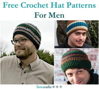 18 Free Crochet Hat Patterns For Men
