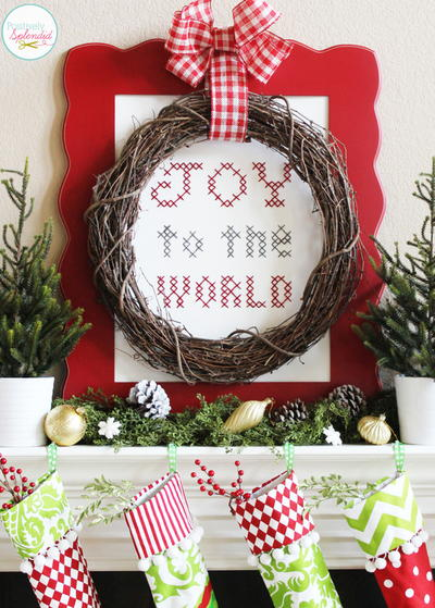 Joy to the World Cross Stitch Sampler