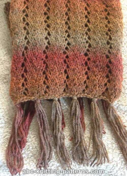December Sunrise Scarf