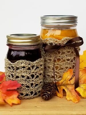 Rustic Elegance Canning Jar Cozy Set