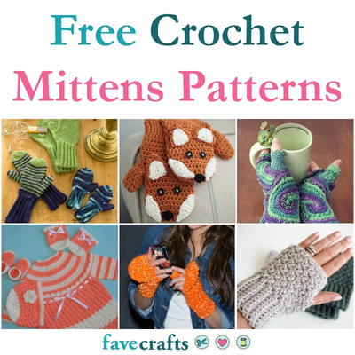 24 Free Crochet Mittens Patterns Favecrafts