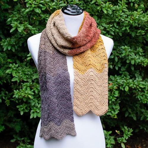 Autumn Ripple Crochet Scarf Pattern | AllFreeCrochet.com