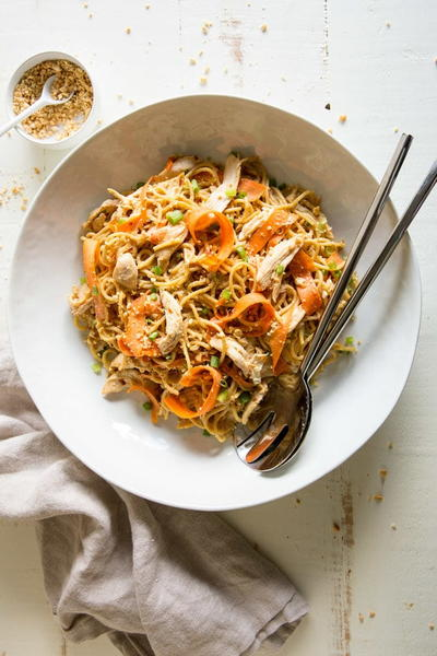 Easy Thai Peanut Chicken and Noodles