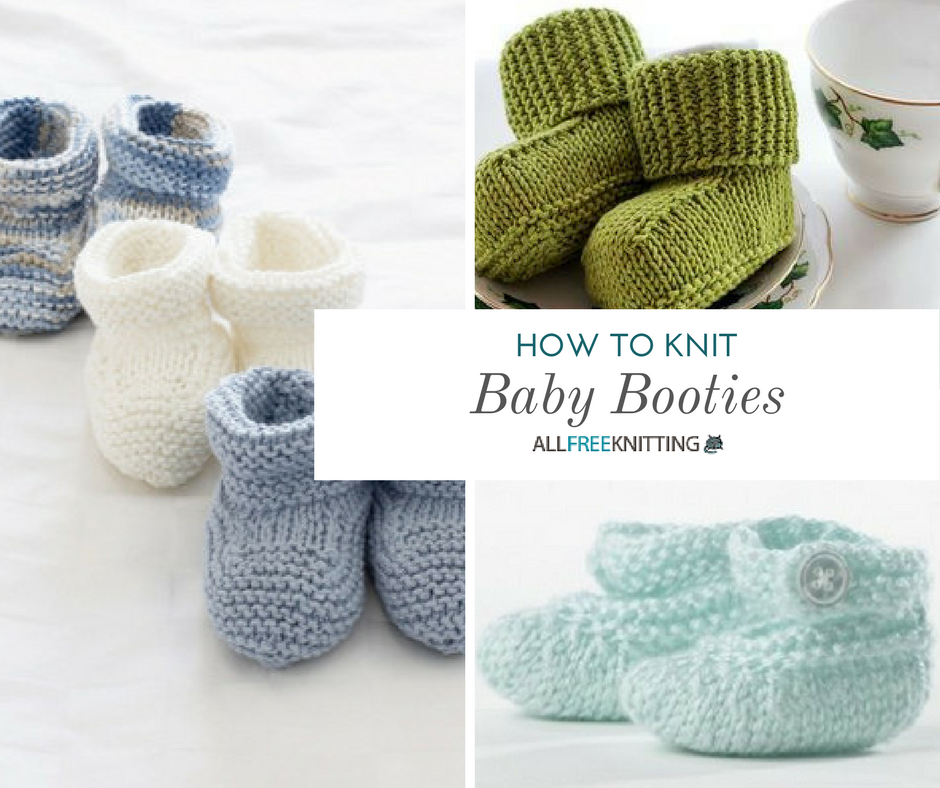 How To Knit Baby Booties 25 Adorable Patterns Allfreeknitting Com