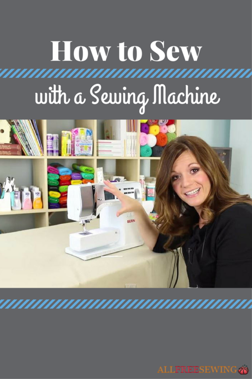 How To Sew With A Sewing Machine AllFreeSewing Gorgeous How To Learn To Sew On A Sewing Machine
