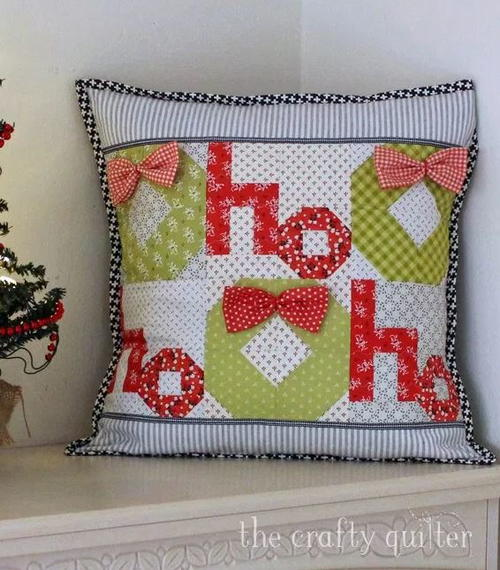 Ho Ho Ho Christmas Pillow