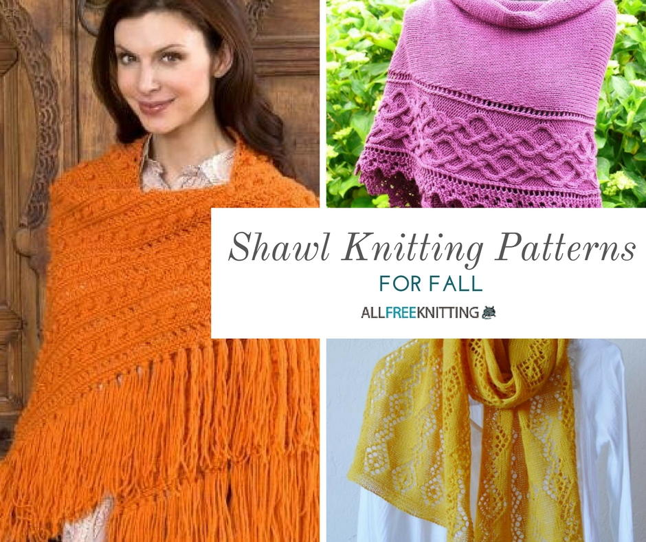 20+ Shawl Knitting Patterns for Fall | AllFreeKnitting.com