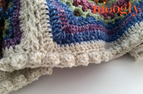 Easy Popcorn Stitch Border Allfreecrochetafghanpatterns Com