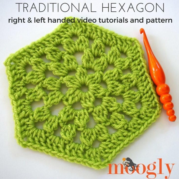 Traditional Hexagon Motif Tutorial Allfreecrochetafghanpatterns