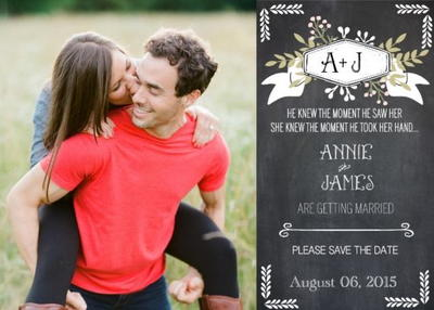 Chalkboard Save the Date Free Printable