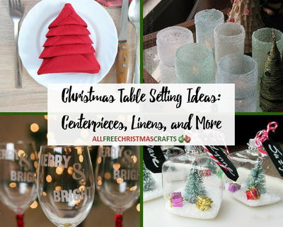 christmas table setting ideas centerpieces linens and more - Christmas Table Decorations Centerpieces