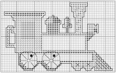 plastic canvas patterns to print christmas railroad ornaments