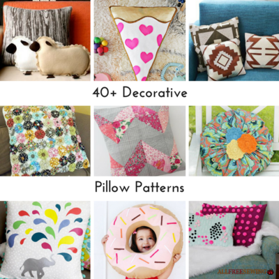 Large Throw Pillow Patterns : 40+ Decorative Pillow Patterns AllFreeSewing.com