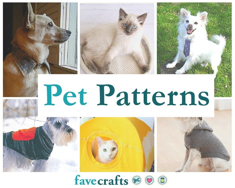 39 Patterns for Pet Clothing and More Pet Crafts   FaveCrafts.com