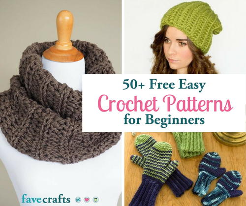 50+ Free Easy Crochet Patterns and Help for Beginners