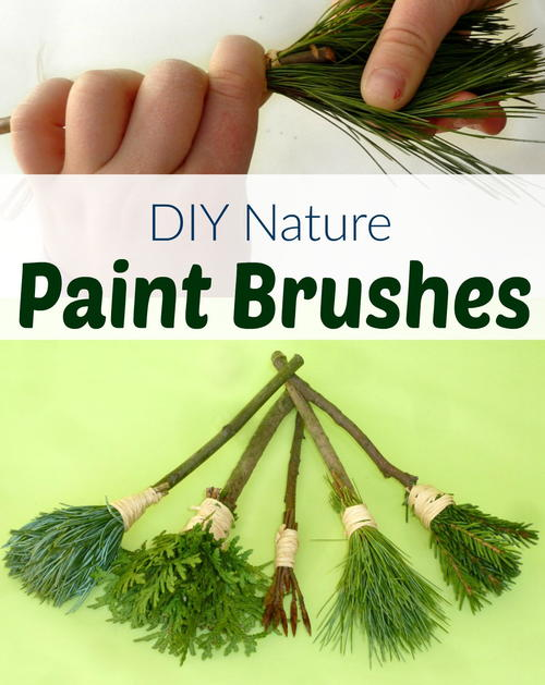 Make Natural Brushes For Kids