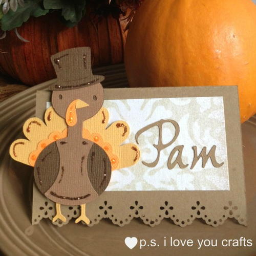 Turkey Thanksgiving Placecard