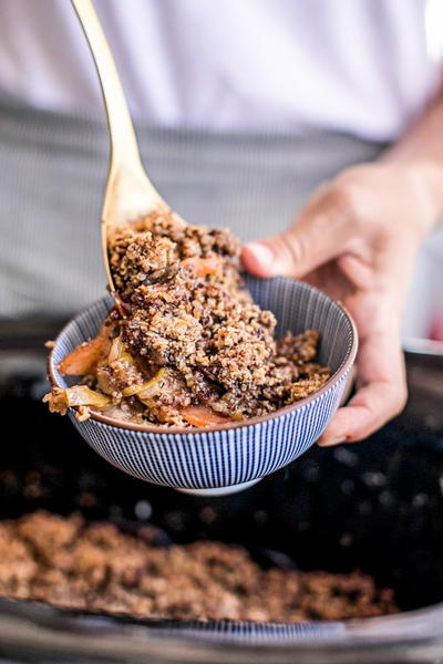 Easy Gluten-Free Slow Cooker Apple Crisp