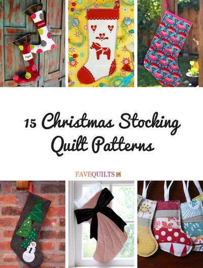 40 Christmas Stocking Quilt Patterns FaveQuilts Cool Quilted Christmas Stocking Pattern