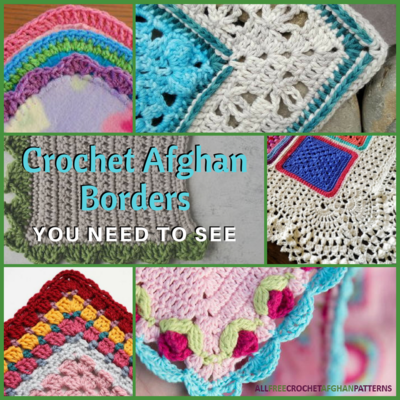 21 Crochet Afghan Borders You Need to See