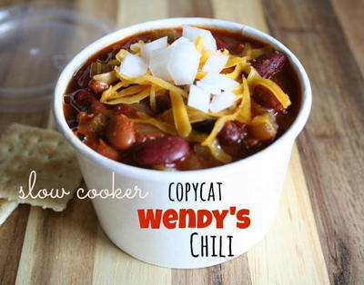 All-Day Slow Cooker Copycat Wendys Chili