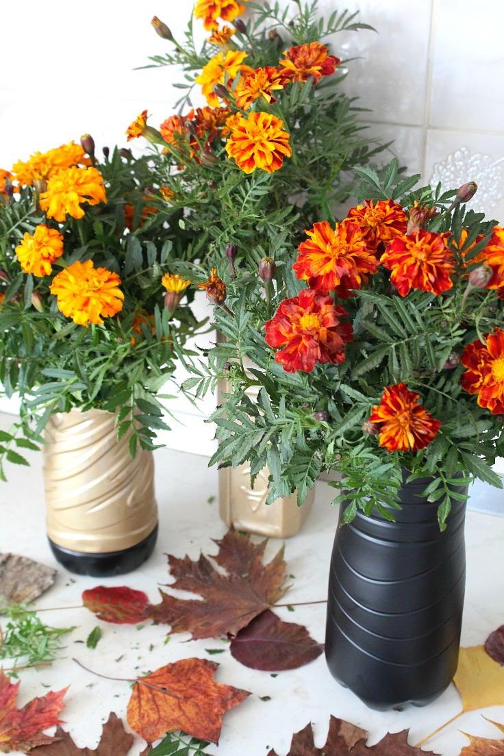 Diy flower vase with plastic bottle diyideacenter floridaeventfo Image collections