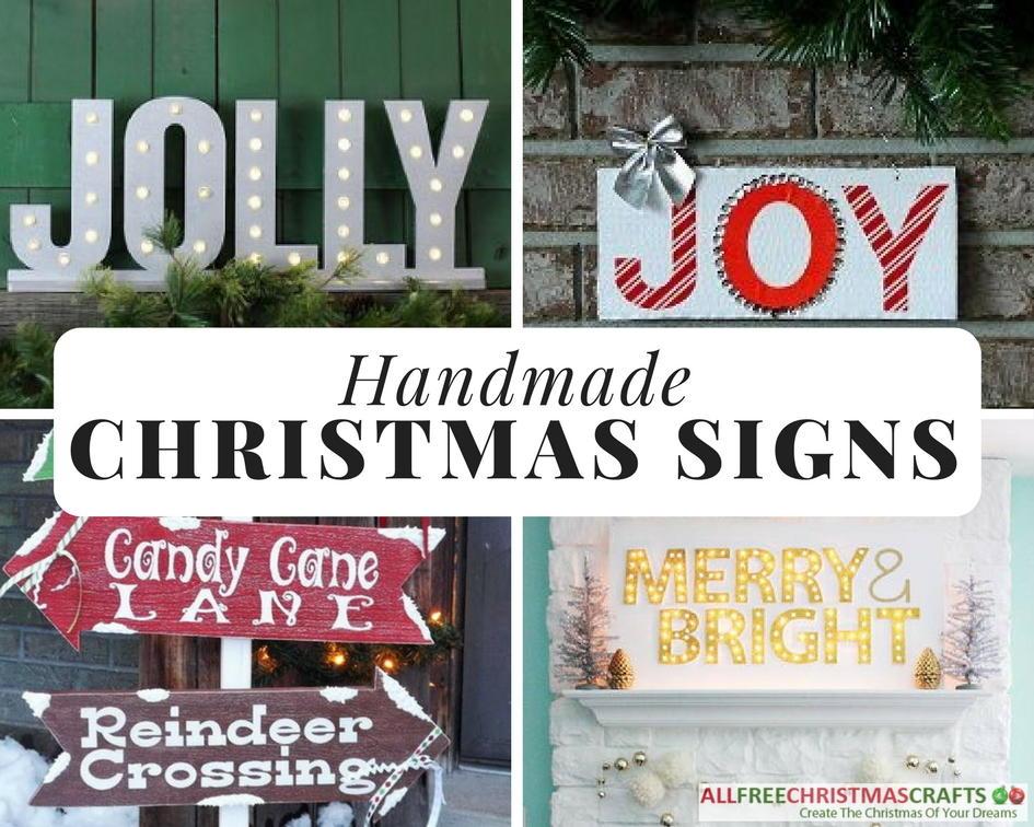 19 Creative Handmade Christmas Signs