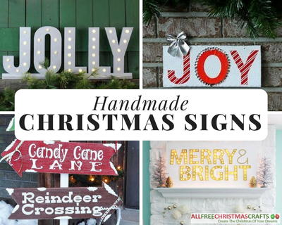 do something a little out of the ordinary with your holiday decorating this year and try your hand at our collection of christmas signs to make - Wooden Christmas Signs