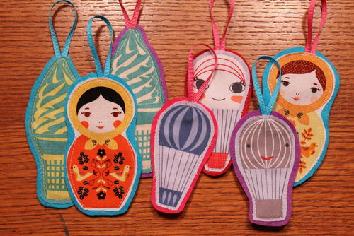 Whimsical Fabric Ornaments