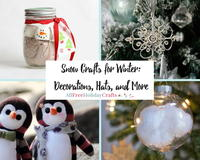 30+ Snow Crafts for Winter: Decorations, Hats, and More
