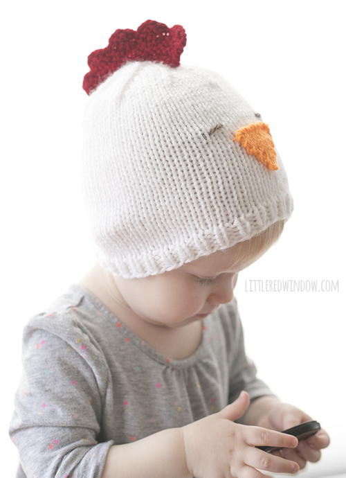 Little Chicken Knit Hat | AllFreeKnitting.com