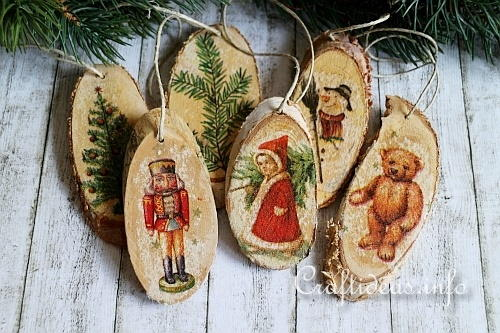 Vintage wood christmas ornaments allfreechristmascrafts