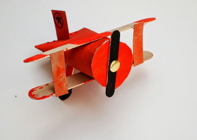 Toilet Roll Biplane Craft